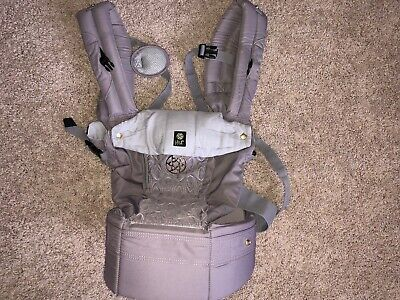 EUC Lillebaby Complete Embossed Baby Carrier Pewter Gray Grey