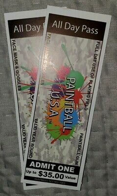 Two Field Passes To Any Painball USA Park - $70 Value!