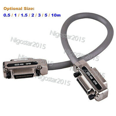 IEEE-488 Cable Cord GPIB-GPIB Interfaces Metal Connector Adapter 1-Year Warranty