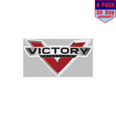 Victory Motorcycle Logo 4 Stickers 4x4 Inch Sticker Decal