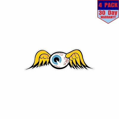 Von Dutch Flying Eyeball 4 Stickers 4x4 Inch Sticker Decal