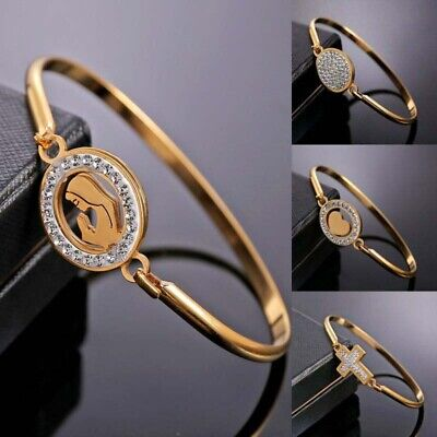 Jewelry Family Gold Fashion Bracelet Bangle Heart Love Women Stainless Steel