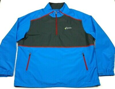 Columbia Golf Pick Play Rainmakers Zip Pullover Waterproof Rain Jacket 2XL XXL