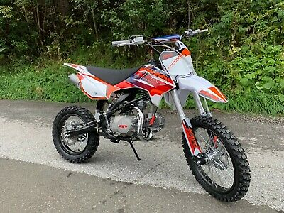 Kayo TT125 Enduro Motocross Dirtbike Motorrad orange weiss Kindercross