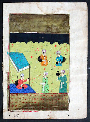 1600's Antique SHAHNAMEH Persian ILLUMINATED MANUSCRIPT Islamic PAINTING Arabic
