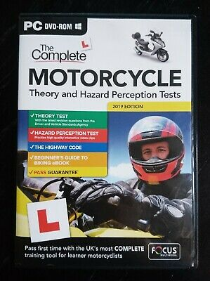 Latest 2019 Complete Motorcycle Theory and Hazard Perception TestsPC DVD-ROM