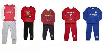 New Boys Pyjamas Manchester United Barcelona Chelsea Liverpool FC 2 to 14 years