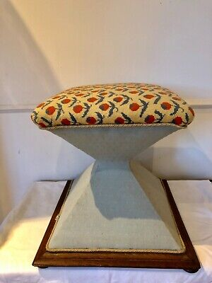 Antique 'Waisted' Stool/Ottoman Victorian Tapestry Circa late 1800's