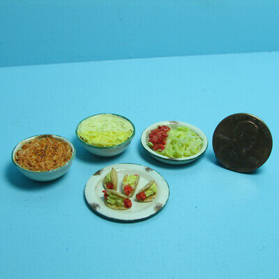 Dollhouse Miniature Complete Making Tacos for Dinner A2588