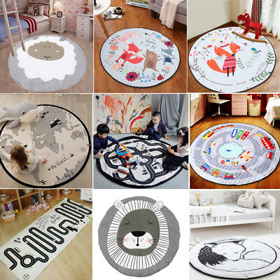 Children Kids Baby Crawling Game Play Mat Rug Carpet Cotton Blanket Playmat