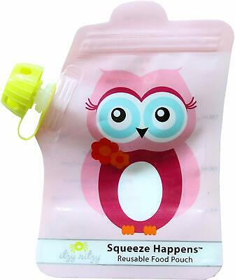 2 Itzy Ritzy Squeeze Happens Reusable Baby Food Pouches 6 Ounce