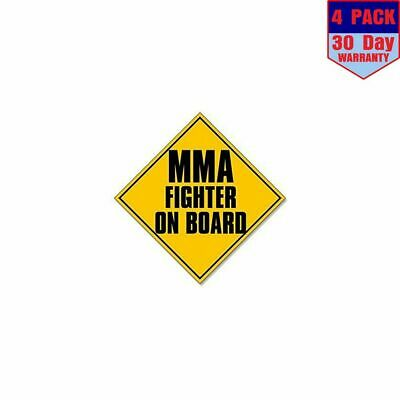 """/""""MMA FIGHTER ON BOARD/"""" window decal BUMPER STICKER cage boxing UFC gloves combat"""