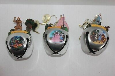 Ashton Drake Wizard of Oz Sleigh Bell Ornaments in Excellent Condition