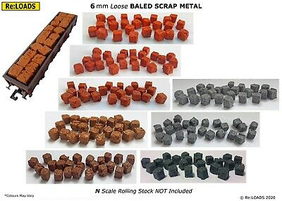 Large N Scale Bales or Small HO 6 mm Loose Crushed Baled Scrap OO Scale Bales