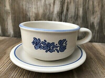 Pfaltzgraff Dishes Yorktowne Big Soup Cup With Saucer Stoneware