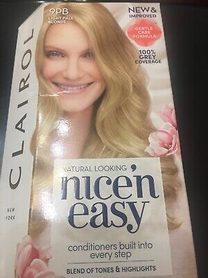 Clairol - Nice n Easy - 9PB LIGHT PALE BLONDE - Permanent Colour BNISB