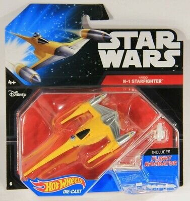 Hot Wheels Star Wars Naboo N1 Starfighter Die-cast New Starships Disney