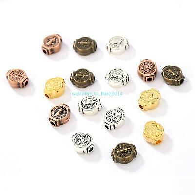 For Religious Bracelet Jewelry Making European Beads Alloy Cross Spacer Beads