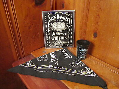 7 Whiskey Bandanna 2006 Beige Square Bandana New Jack Daniels Old No