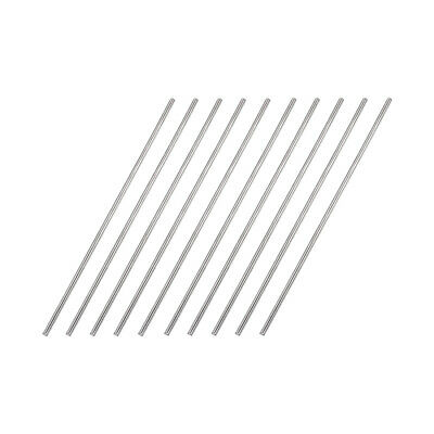 2mm x 100mm 304 Stainless Steel Solid Round Rod for DIY Craft - 10pcs