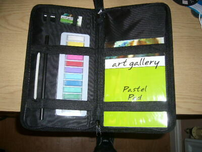 Oil Pastel Set Artists Colour Oil Pastels Pad in Zipped Case Free P&P