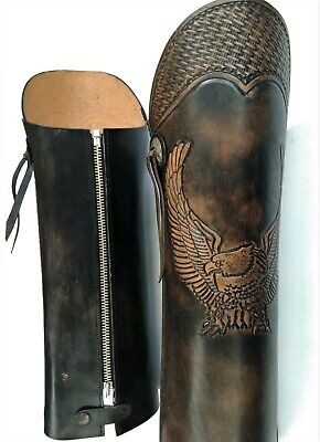 Motorcycles half chaps leather gaiters