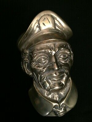 Vintage Unique Brass Door Knocker Sea Captain Penco
