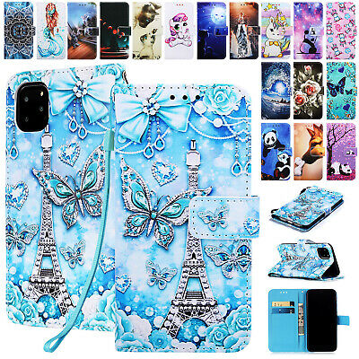 For iPhone11 Pro Max XS XR 8 7 6s Plus Case Magnetic Leather Wallet Stand Cover