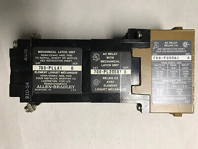 Allen Bradley 700-PL200A1 Type P Control Relay with Mechanical Latch