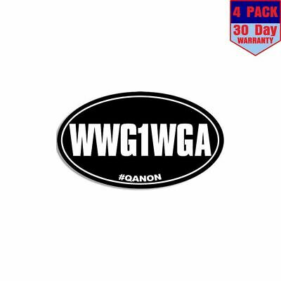 Wwg1wga 4 Stickers 3x5 Inch Sticker Decal