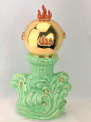 Vintage Kitsch Mid Century Asian Chinese Flaming Pearl Decor Figurine MCM