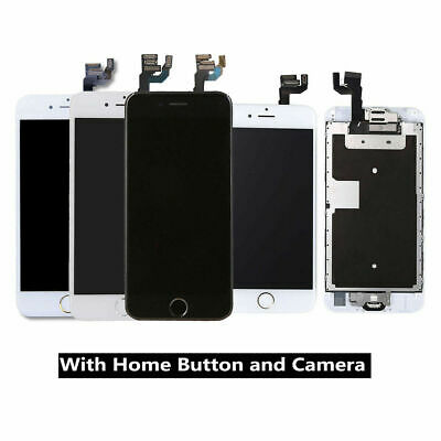 For iPhone 6 6S 5 5C 5S 7 LCD Touch Screen Full Replacement + Home Button&Camera