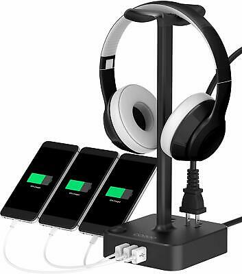 COZOO Smart Charger & Gaming Headset Holder/Stand, 3 USB Ports, 2 Outlets