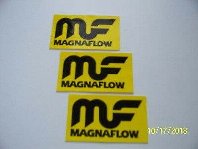 "ORIGINAL  RACING  DECALS   3    ""  MF  MAGNAFLOW  ""   4 "" x  2.25 ""  #1"