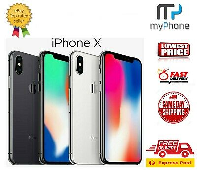 Apple iPhone X 10 [ 64GB/256GB ] Space Grey/Silver Unlocked [AU Stock] A1865