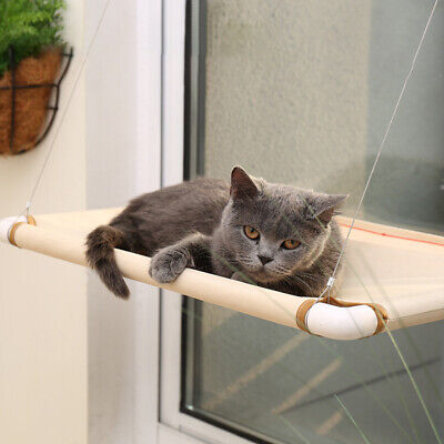 Window Mounted Pet Bed Suction Cup Hanging Cat Sunshine Hammock Perch  #