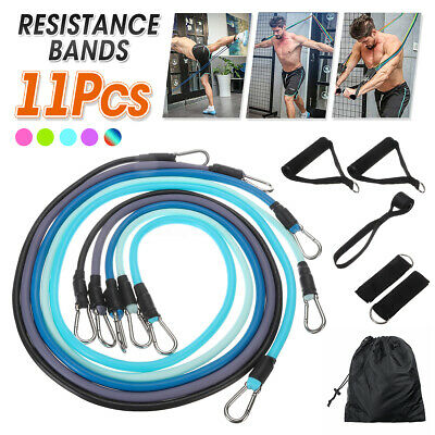 2020New Resistance Bands Workout Exercise Yoga 11 Piece Set Fitness Tubes