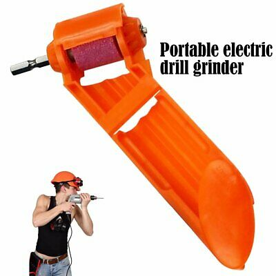 Portable Drill Grinder Sharpener Grinding Wheel Electric Knife Twist DrillX