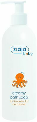 Ziaja Baby Creamy Hypoallergenic Bath Soap Colourants-Soap Free 3 months+ 300ml