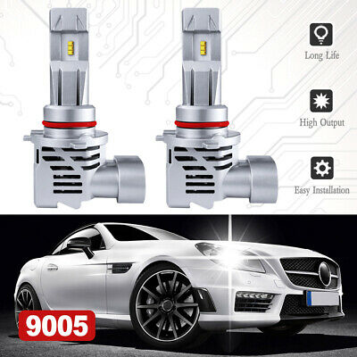 LED headlight Bulbs 9005//HB3 All-in-one LED Headlights Conversion Kit-72W 24000 Lm 6500K Cool White ZES Chips IP68 Waterproof LED Automotive Headlamp Canbus System 5 Year Warranty