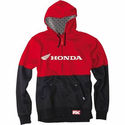 Factory Effex Honda Double Zip Hoody - Red/Blk, All Sizes
