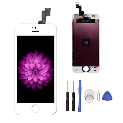 For iPhone 5S White Screen LCD Display Replacement Assembly Touch Digitizer Lot