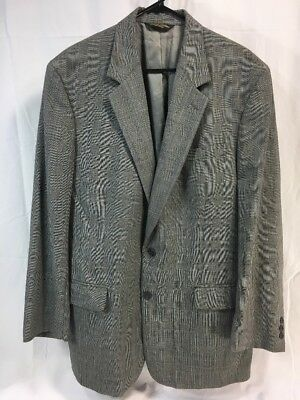 Brooks Brothers Wool 2 Button Gray Blazer Jacket Suit Coat Mens 44 Long USA