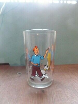 VERRE A MOUTARDE TINTIN LOMBARD 1983 RARE