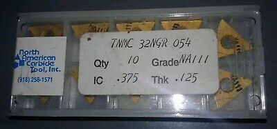 10 Pc. North American Carbide Tnmc 32Ngr 054. Grade Na111