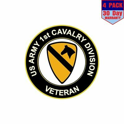 Army 1st Cavalry Division Veteran 4 Stickers 4x4 Inch Sticker Decal
