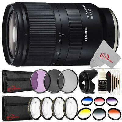 Tamron 28-75mm f/2.8 Di III RXD Lens for Sony E Lens + Top Accessory Kit