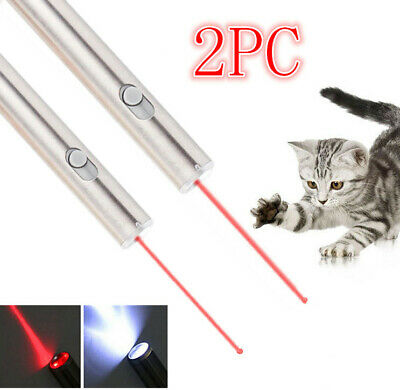 2Pack Red Laser Pen Flashlight Visible Beam Ultra Bright 500Miles 2in1 Lazer