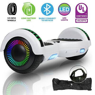 UL2272 White Bluetooth Hoverboard Electric Self Balance Scooter Overboard W/ Bag