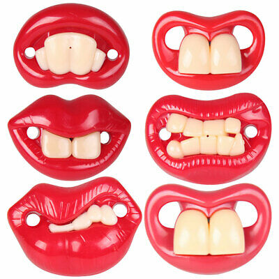 Cy_ Funny Buckteeth Big Mouth Dummy Nipple Baby Pacifier Soother Teether Toy Nov